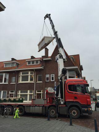 Transport en plaatsing van dakkapellen